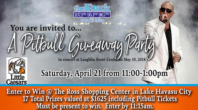 A Pitbull Giveaway Party