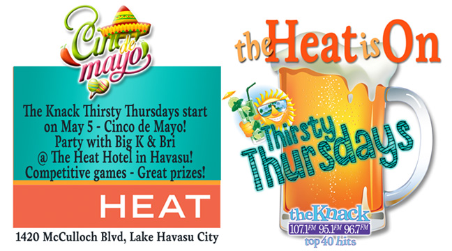 The Knack Thirsty Thursday @ The Heat Hotel in Havasu